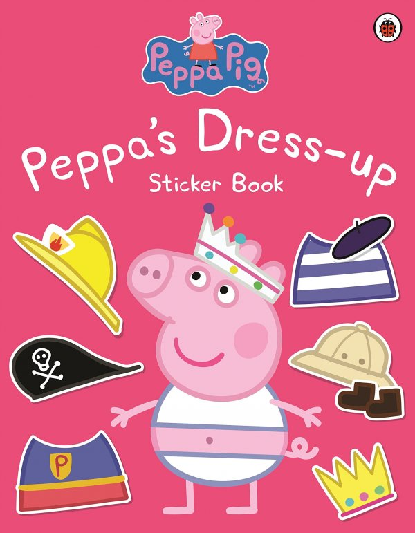 Peppa Dress-Up, zošit s nálepkami