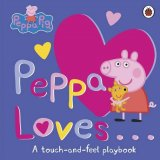 Peppa Loves: A Touch-and-Feel Playbook, anglická kniha - leporelo