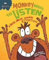 Monkey Needs to Listen - A book about paying attention, anglická kniha