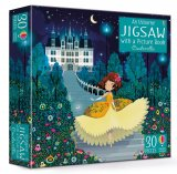 Cinderella jigsaw and picture book, anglická kniha a puzzle