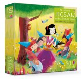 Snow White and the Seven Dwarfs jigsaw and picture book, anglická kniha a puzzle