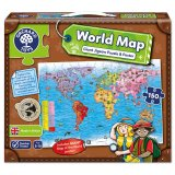 World Map Puzzle & Poster, puzzle s plagátom