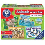 Animals Four in a Box, puzzle