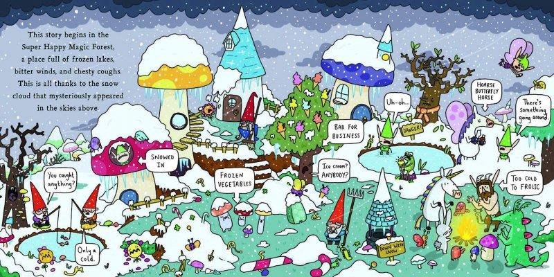 c9e663688 kniha Super Frozen Magic Forest, anglická kniha