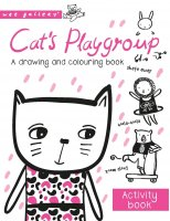 Cat's Playgroup: A drawing and colouring book, omáľovánka