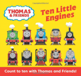 Ten Little Engines, anglická kniha - leporelo