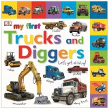 My First Trucks and Diggers Let's Get Driving, anglická kniha - leporelo